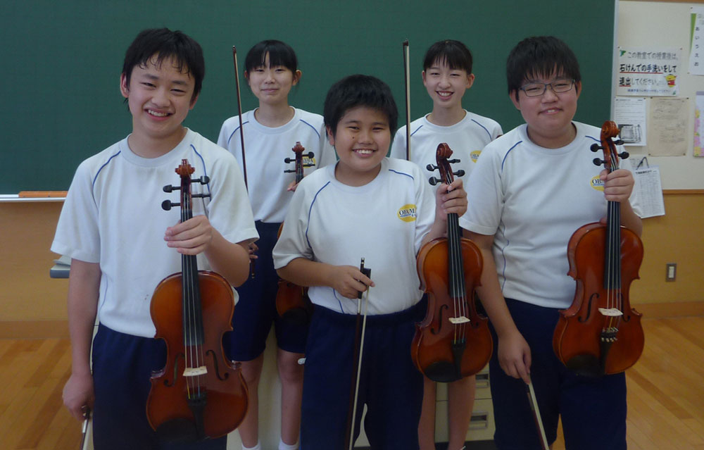 小浜市立小浜中学校芸術部バイオリンコース